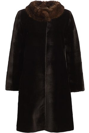 The Fur Salon Women's Zac Posen For Reversible Sable-Trimmed Sheared Mink Coat - - Size Small