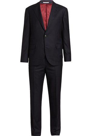 Brunello Cucinelli Men's Chalk Stripe Wool Suit - - Size 52 (42)