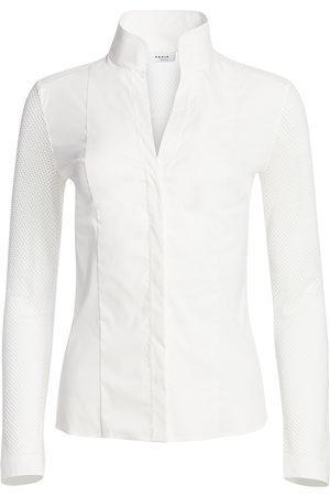 AKRIS Women's Elements Mesh-Sleeve Blouse - - Size 16