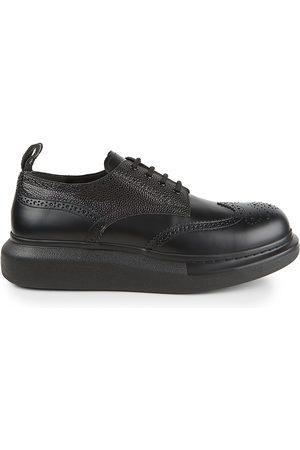 Alexander McQueen Men's Brogue Platform Leather Shoes - - Size 44 (11)
