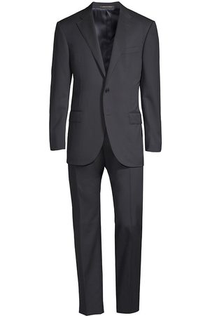corneliani Men's Regular-Fit Solid Woven Wool Suit - - Size 60 (50) R