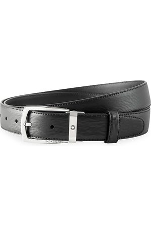 Mont Blanc Men's Contemporary Leather Belt