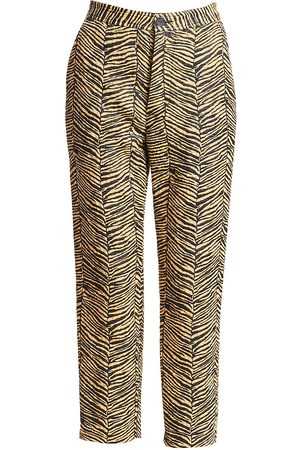 RACHEL COMEY Women's Baby Zebra Jacquard Vestige Pants - - Size 0