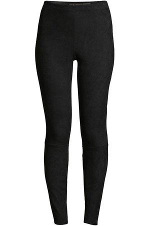 ALICE+OLIVIA Women's Maddox Leather Legging - - Size 10