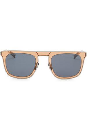 Salvatore Ferragamo Men Square - Classic 51MM Elegant Stainless Steel Square Sunglasses