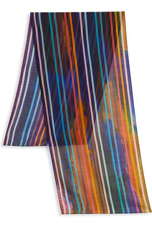 Paul Smith Men's Striped Watercolor Art Scarf