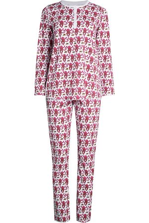 Roller Rabbit Women's Monkey Print 2-Piece Pajama Set - - Size Large
