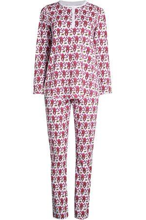 Roller Rabbit Women's Monkey Print 2-Piece Pajama Set - - Size Large