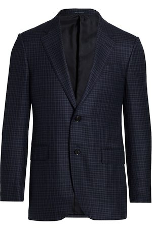 Ermenegildo Zegna Men's Plaid Italian Wool Sportscoat - - Size 50 (40) R