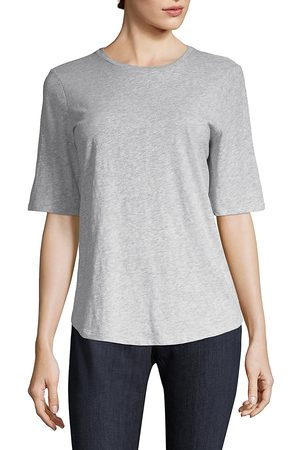 Eileen Fisher Women's System Slubbed Cotton Tee - - Size Large