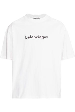 Balenciaga Men's New Copyright Jersey T-Shirt - - Size Large