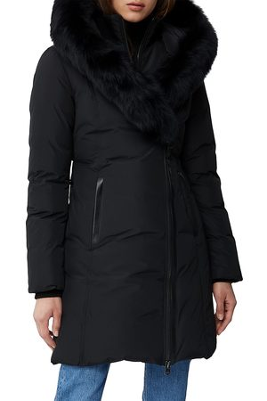 Mackage Women's Kay Fox Fur Trim Parka - - Size Large