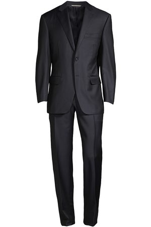 CANALI Men Suits - Men's Wool Two-Button Suit - - Size 54 (44) L