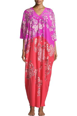 Natori Women's Hana Floral Silk Nightgown - - Size XS-Small