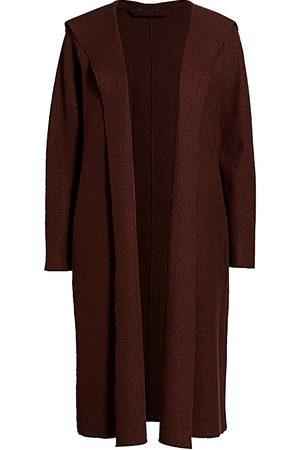 Eileen Fisher Women's Wool Hooded Wrap Jacket - - Size XL