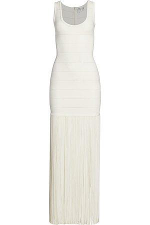 Hervé Léger Women's Fringe Maxi Dress - - Size Small