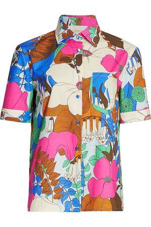 La DoubleJ Women's Floral Clerk Shirt - - Size Medium