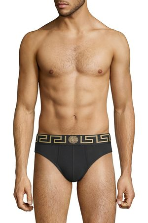 VERSACE Men's Stretch Cotton Low-Rise Briefs - - Size 4 (Small)