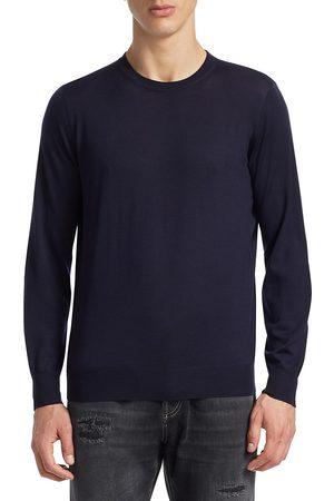 Brunello Cucinelli Men's Crewneck Elbow Patch Sweater - - Size 56 (46)