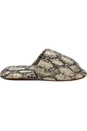 MINNIE ROSE Women's Python Slippers - - Size Small