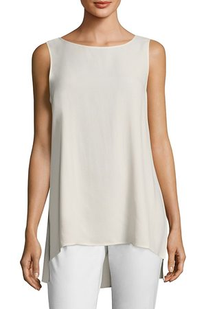 Eileen Fisher Women's System Silk Boatneck Long Shell Tank - - Size XL