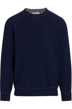 Brunello Cucinelli Men's Cashmere Raglan-Sleeve Pullover - - Size 54 (44)