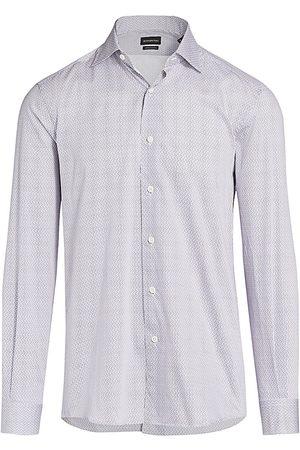 Ermenegildo Zegna Men's Martini Print Sport Shirt - - Size XXXL