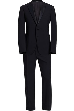 Emporio Armani Men Suits - Men's M Line Stretch Wool Tuxedo - - Size 58 (48) R