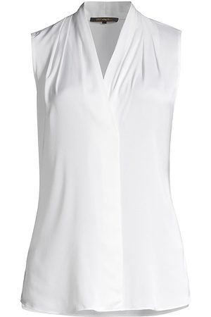 Kobi Halperin Women's Mila Sleeveless Silk-Blend Blouse - - Size XXL