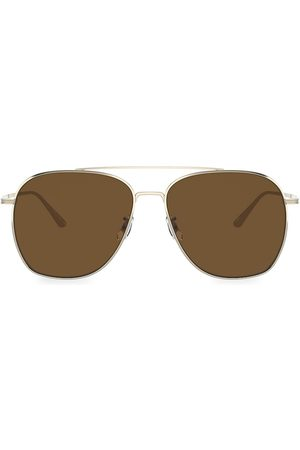 Oliver Peoples Men's Ellerston 58MM Aviator Sunglasses