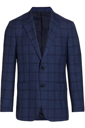 Ermenegildo Zegna Men's Lightweight Plaid Italian Wool-Blend Sportscoat - - Size 52 (42) R
