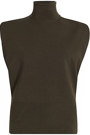 3.1 Phillip Lim Women's Military Rib Mockneck Pullover Top - - Size Medium