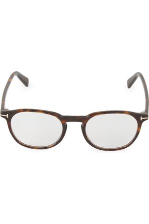 Tom Ford Men's 50MM Round Blue Block Optical Glasses