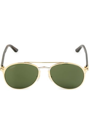 Cartier Men's 56MM Aviator Metal Sunglasses