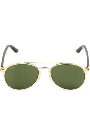 Cartier Men's 56MM Aviator Metal Sunglasses