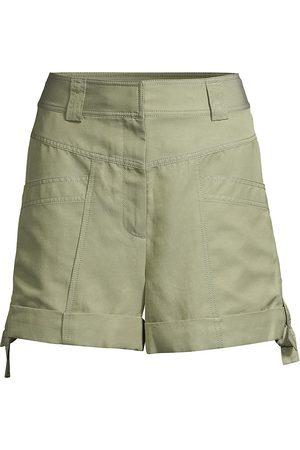 REBECCA TAYLOR Women's Twill High-Rise Shorts - - Size 14