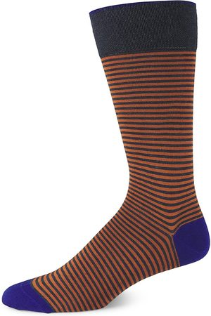 Marcoliani Men's Palio Striped Crew Socks