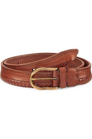 Brunello Cucinelli Men Belts - Half Braided Leather Suede Belt