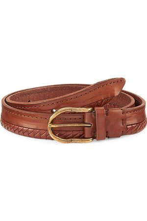 Brunello Cucinelli Men's Half Braided Leather Suede Belt - - Size 110 (44)