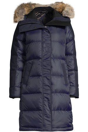 Canada Goose Women's Label Rowley Fur-Trim Down Parka - - Size Large