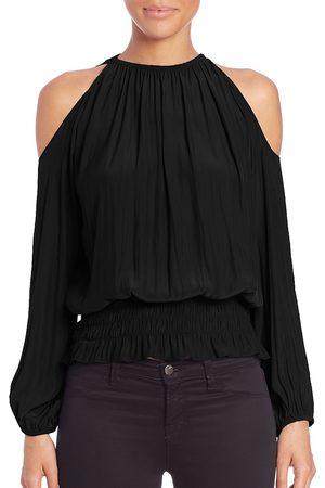 Ramy Brook Women's Lauren Cold-Shoulder Smocked Top - - Size XXS