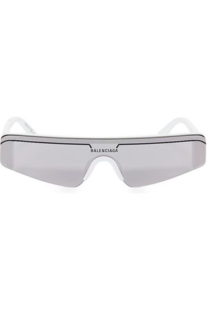 Balenciaga Men's 99MM Angular Shield Sunglasses
