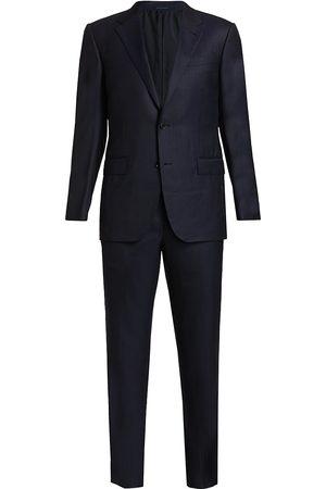 Ermenegildo Zegna Men's Tonal Stripe Wool Suit - - Size 56 (46) L