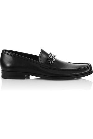 Salvatore Ferragamo Men's Chris Horse-Bit Leather Loafers - - Size 12 EE