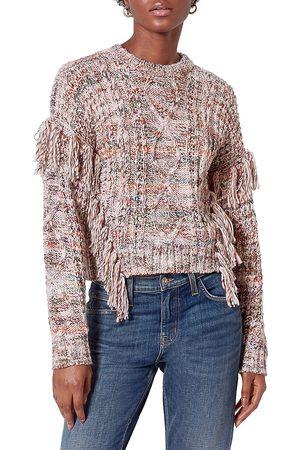 Joie Women's Meghan Fringe Trim Sweater - - Size Large