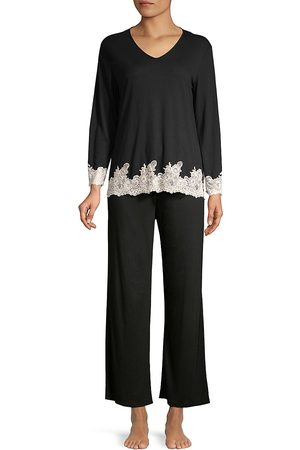 Natori Women's Luxe Shangri La Two-Piece Pajama Set - - Size Small