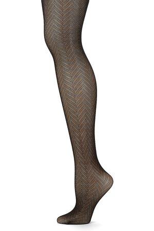 Natori Women's Herringbone Net Tights - - Size Large