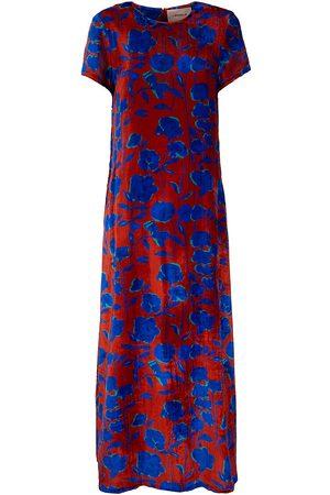 La DoubleJ Women's Edition 22 Floral Velvet Sable Silk-Blend Swing Dress - - Size Small