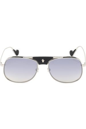 Moncler Men's 57MM Square Aviator Sunglasses