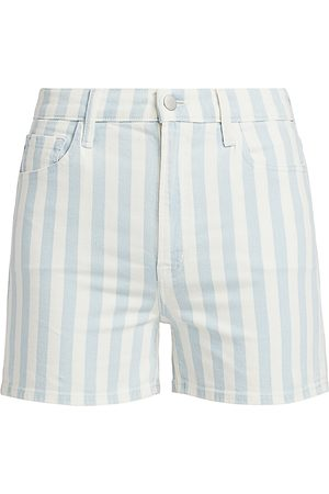 J Brand Women's Jules High-Rise Striped Shorts - - Size 32 (12)
